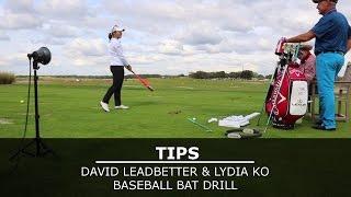 david leadbetter lydia ko baseball bat drill