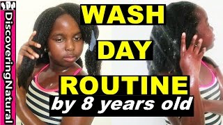Natural Hair Wash Day Routine for Kids By an 8 Year old #NaturalHair