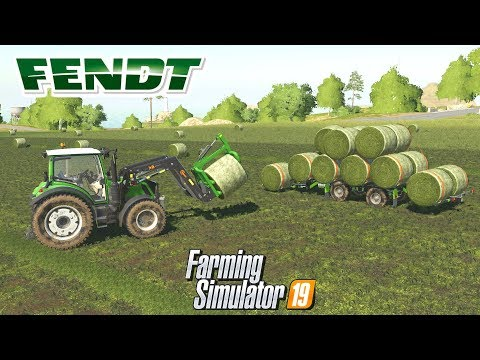Farming Simulator 19 Mod Video Review Colect Round Bales