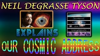 Neil deGrasse Tyson Cosmos 🌍🌏🌎 - Our Cosmic Address | Know Our Cosmic Address