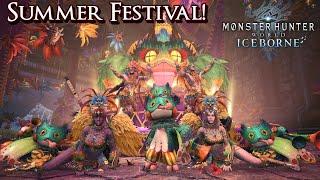 Monster Hunter World Iceborne - Summer Festival & Alatreon Hunts