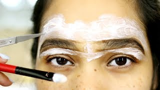 How To Groom Your Eyebrows At Home Using Nair  - MissLizHeart