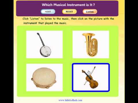 Preschool Game for kids - Find the Musical Instrument that Played the Music