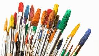 Como retirar excesso de tinta do pincel com Artes Mariana Santos
