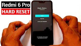 Redmi 6 Pro (M1805D1SI) Hard Reset |Pattern Unlock |Factory Reset Easy Trick With Keys