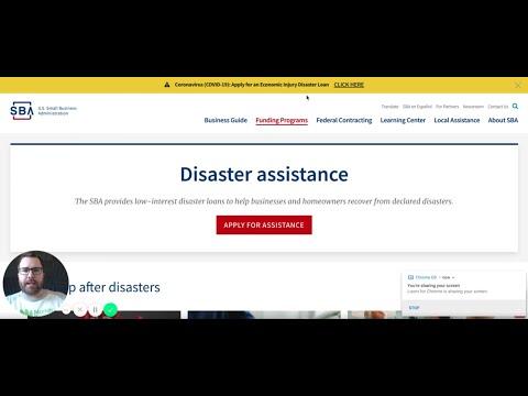 SBA Disaster Loan Application STEP BY STEP (FULL WALKTHROUGH)