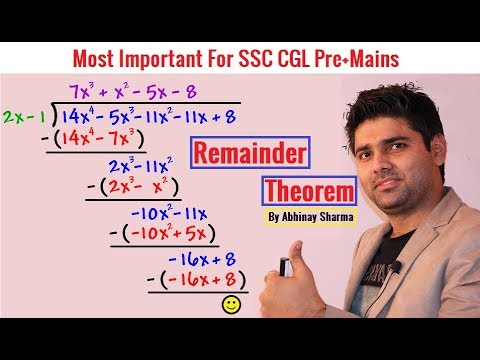 Remainder Theorem By Abhinay Sharma | Number System Important Topic | SSC CGL Mains | Abhinay Maths
