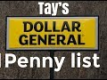 Brand New dollar general penny list 2018 Going penny shopping ?🛒 you'll need the list