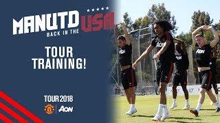 Manchester United Training! | Valencia, Tuanzebe, Chong | USA Tour 2018 Live on MUTV