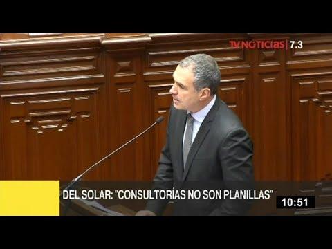 """Premier Salvador del Solar: """"Consultorías no son planillas"""""""