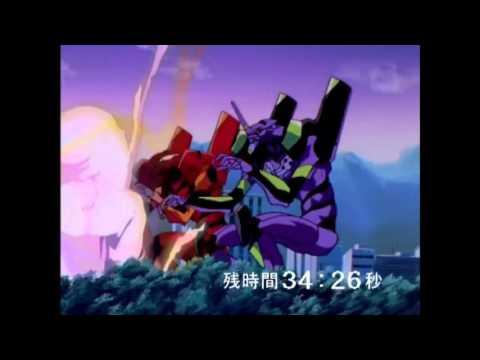 Neon Genesis Evangelion EVA-01 Y EVA-02 Contra Israfel