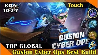 Gusion Cyber Ops [Top Global 2 Gusion] Best Build and Gameplay Mobile Legends