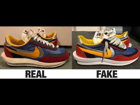 How To Spot Fake Nike LD Waffle Sacai Sneakers / Trainers Fake Vs. Real Comparison