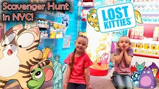 Lost Kitties Toy Scavenger Hunt! Finding Lost Kitties in New York City!