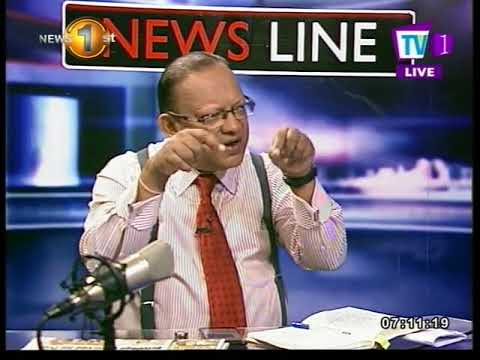 NEWSLINE TV1 Politics in Sri Lanka Lacille de silva & Faraz