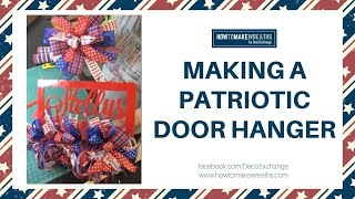 How to make a door hanger with bows