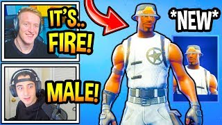 "Streamers React To *NEW* MALE ""RECON EXPERT"" Skin In Fortnite! (Fortnite Moments)"