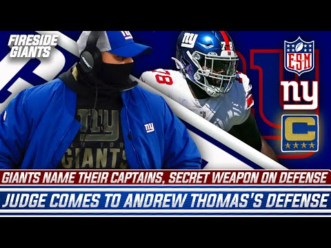 Giants Name Captains | Surprise At RT | Patrick Graham The Spy? | Judge On Andrew Thomas's Struggles