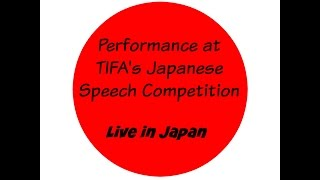 John Henry Sheridan - Live at TIFA Speech Event, Takarazuka Japan 7-9-11