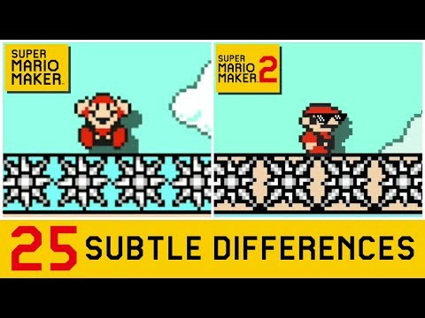 25 Subtle Differences between Super Mario Maker 2 and SMM1