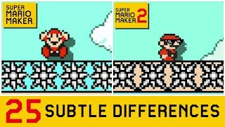 25 Subtle Differences between Super Mario Maker 2 and SMM1 (1/4)