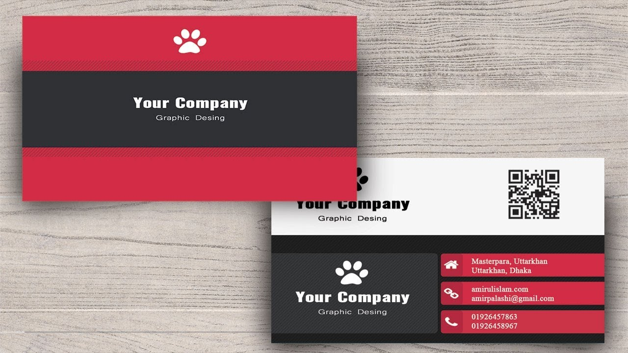 Photoshop Tutorials : How to Create Business Card in Photoshop ...