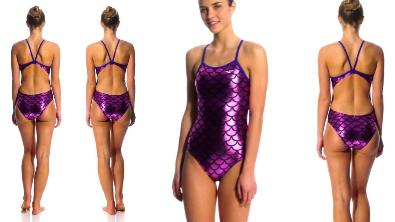 559637599b Shiny purple swimsuit - YouTube