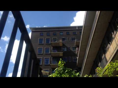 Clouds above building - free stock video footage