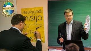 Fizikas stunda pie premjera Valda Dombrovska
