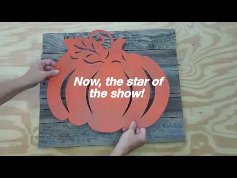 Dollar Tree Pumpkin Stencil Hacks