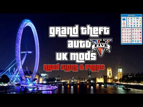 GTA V UK Road Signs & Props + DOWNLOAD LINK