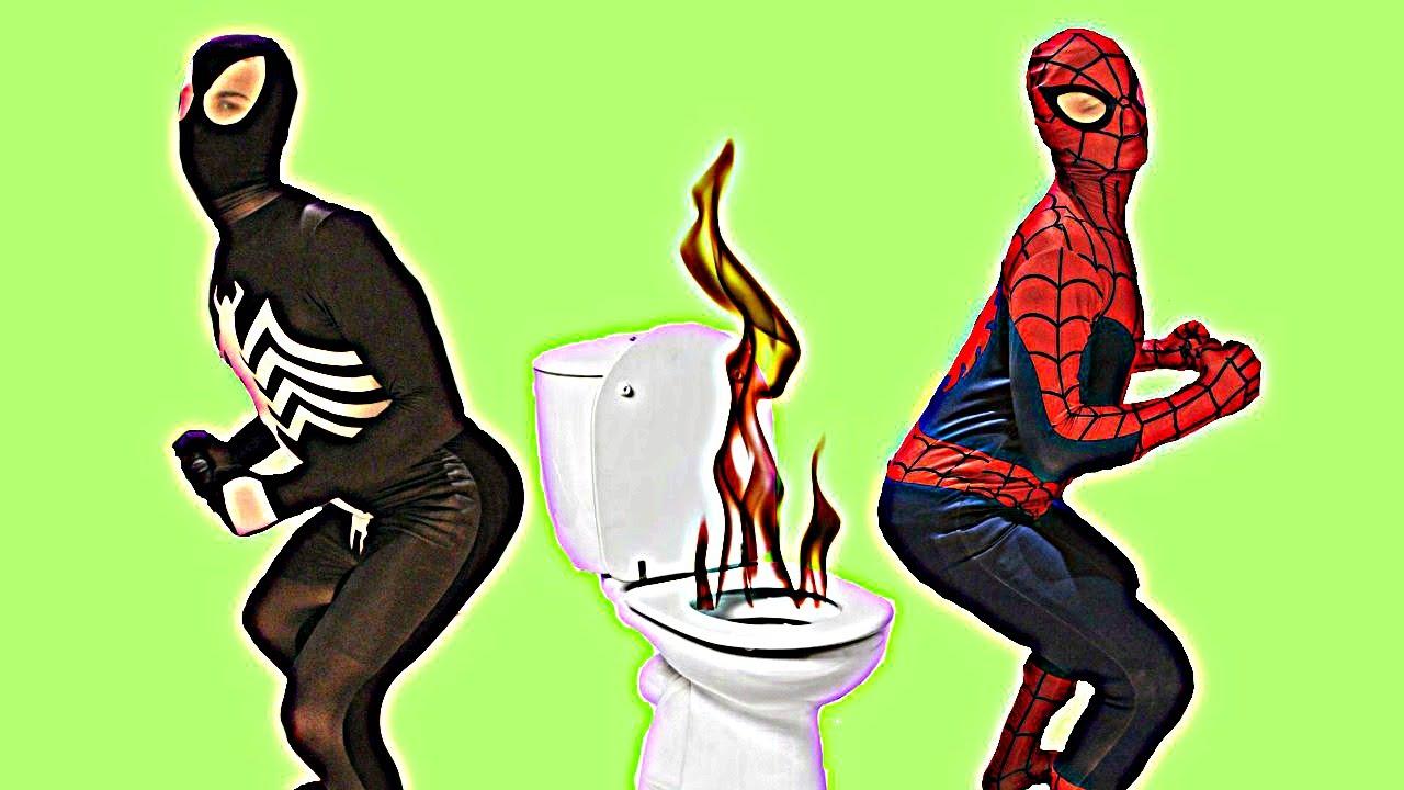 Superheroes On The Toilet