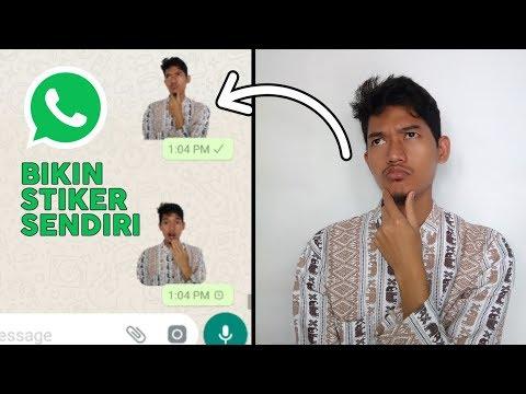 Wow Cara Membuat Stiker Whatsapp Dengan Foto Sendiri Tutorial Mudah Youtube