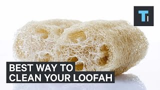 Your loofah is disgusting — here's the best way to clean it