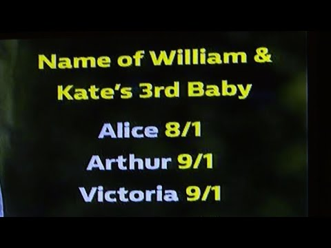Bookies bet all on Alice for next royal baby name