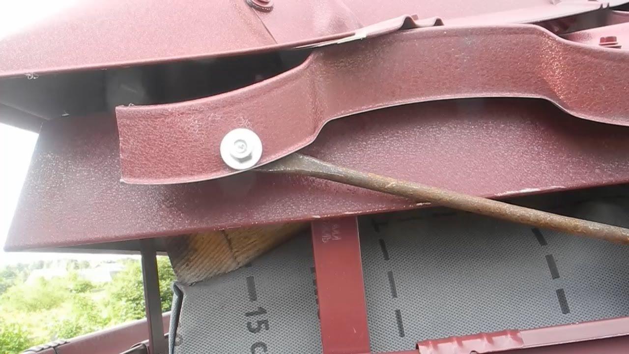 Как заземлить крышу,сделать молниеотвод