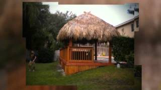 Best Tamarac (954) 282-9242 Tiki Hut Builder & Repair Custom |backyard Bar | Chickee | Thatching