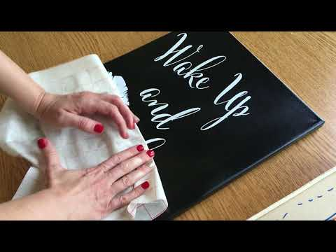 How to Apply Vinyl Decals to Canvas