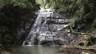 千葉県 大多喜町 平沢 平沢川 せせらぎの滝上滝