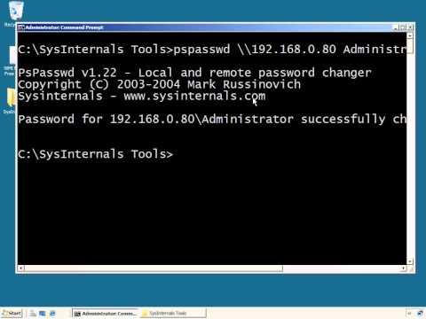 remotely change administrator password windows 10
