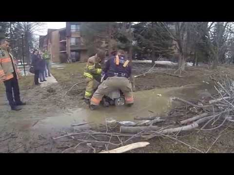 Brampton Firefighters Rescue Elderly Disabled Man From Mud Trap