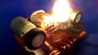 DC motor Free energy generator light bulbs with Magnets - Simple idea at home