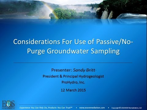 Considerations For Use of Passive/No-Purge Groundwater Sampling