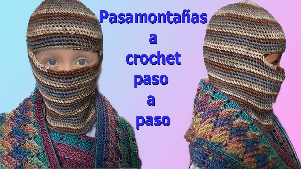 Gorro para niños pasamontaña a crochet paso a paso, facil y rapido ...