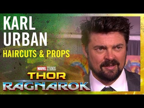 Karl Urban on haircuts & maybe stealing props  Marvel Studios' Thor: Ragnarok Red Carpet Premiere