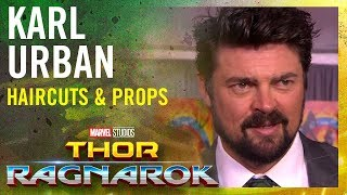 Karl Urban on haircuts & maybe stealing props -- Marvel Studios' Thor: Ragnarok Red Carpet Premiere