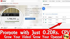 How to Promote YouTube Video - Get unlimited Views and Subscribers using Google AdWords Campaign