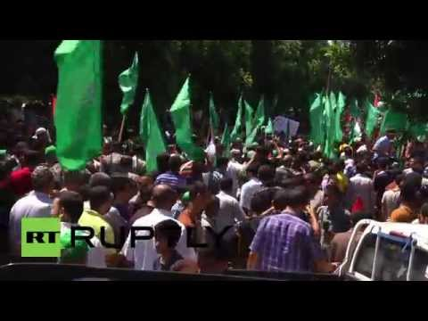 State of Palestine: Protesters flood Gazan streets in support of ceasefire delegation
