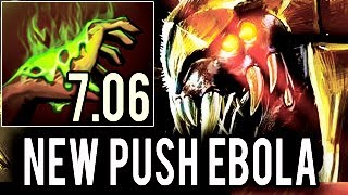 New Push Ebola 7.06 Miracle- plays VENOCANCER ► Enemy Rage Quit Dota 2