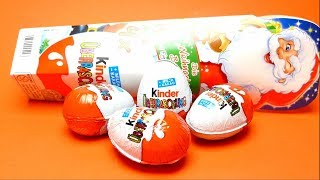 Unboxing Kinder Christmas Surprise Egg with Surprise Toys